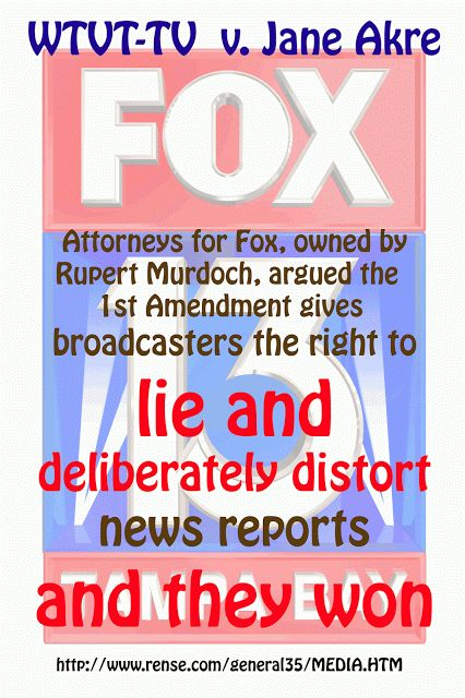 Fox admits that it lies....but it is legal.  Propaganda not news. Do NOT ever quote Faux as your source to me again unless you have further information to back it up (hahaha).