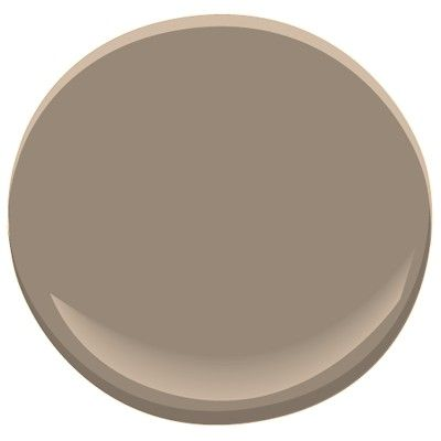 Benjamin Moore - Flagstone, the color we picked for the basement. Taupe with grey undertones to be cohesive with the greige upstairs.