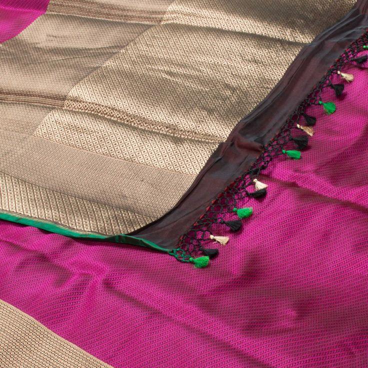 Shivangi Kasliwal Handwoven Banarasi Satin Silk Sari 1009744 - Saris / Banarasi…