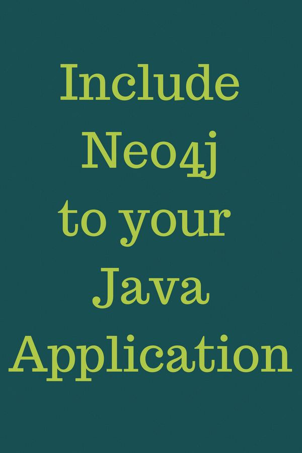 Include neo4j to your java application