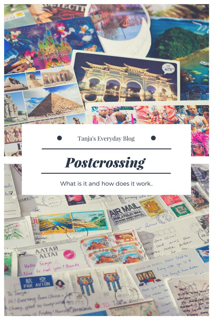 Postcrossing Tanja's Everyday Blog  Was ist Postcrossing und wie funktioniert es? #What is postcrossing and how does it work?  #postcrossing #traveltheworld #travel #postcards #tippsforpostcrossing #