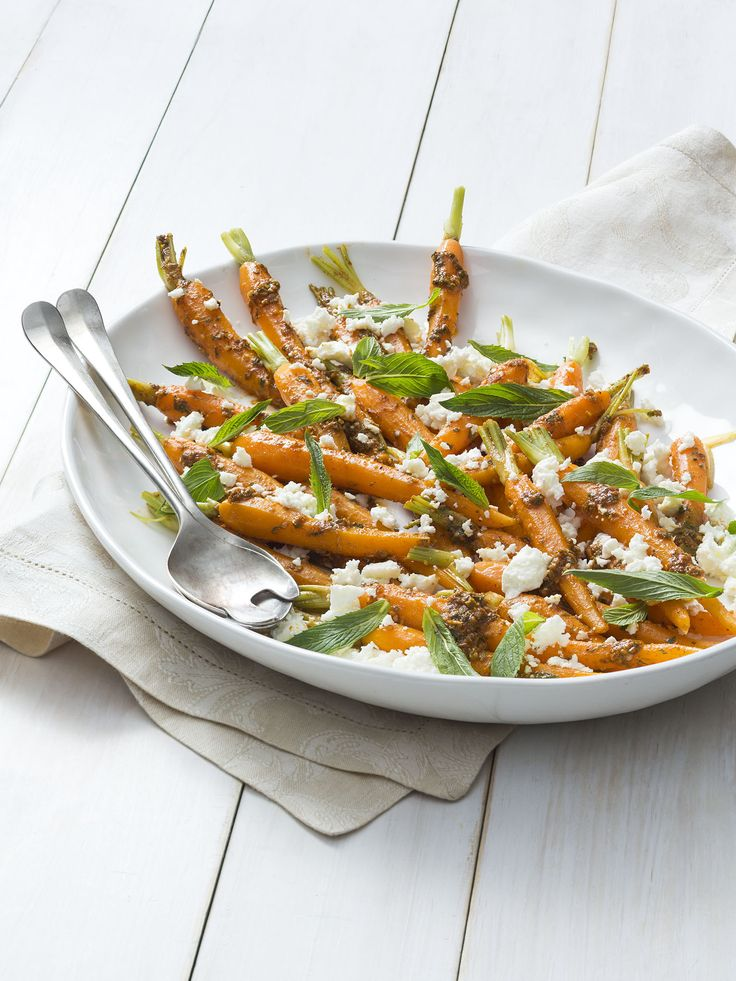 Carrot, feta and mint salad | Thermomix | Vegetarian Kitchen cookbook and recipe chip | p. 80 |