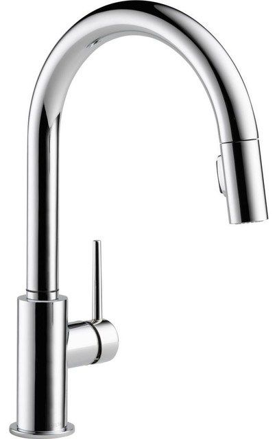 single handle pull kitchen faucet contemporary kitchen faucets finish  single handle color changing led wall mount