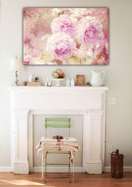"""Farbe - Leinwand """"Vintage Rose """" 90 x 60 cm - ein Designerstück von Heavensblue-Fotografie bei DaWanda"""