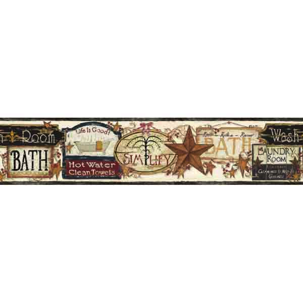 18 best bath borders images on pinterest wallpaper for Bathroom wallpaper border ideas