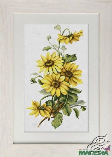 Yellow Flowers - Cross Stitch Kits by Luca-S - BM3003