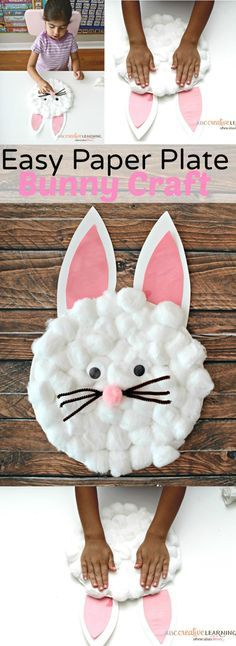The Cutest and Easy Paper Plate Bunny Craft for Kids! Perfect for celebrating Easter and Spring! - simplytodaylife.com