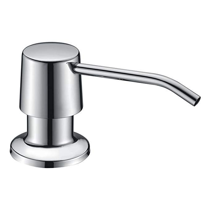 Kvadrat Chrome Stainless Steel Kitchen Soap Dispenser Countertop