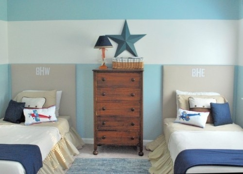 love.Bedrooms Design, Boys Bedrooms, Kids Room, Boy Rooms, Room Ideas, Twin Beds, Painting Ideas, Stripes, Boys Room