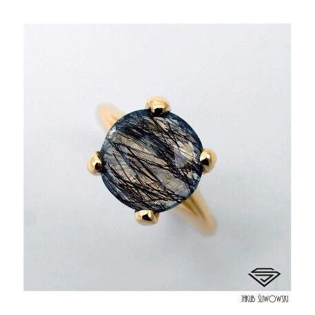 Tourmaline quartz ring