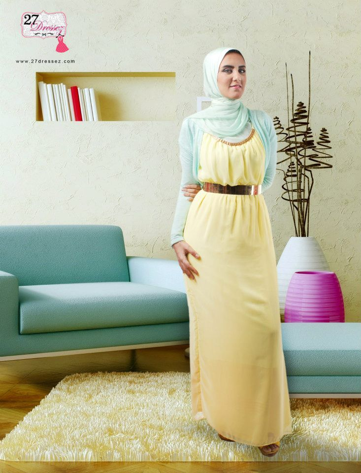pastel maxi dress  Trendy summer maxi dresses with hijab http://www.justtrendygirls.com/trendy-summer-maxi-dresses-with-hijab/