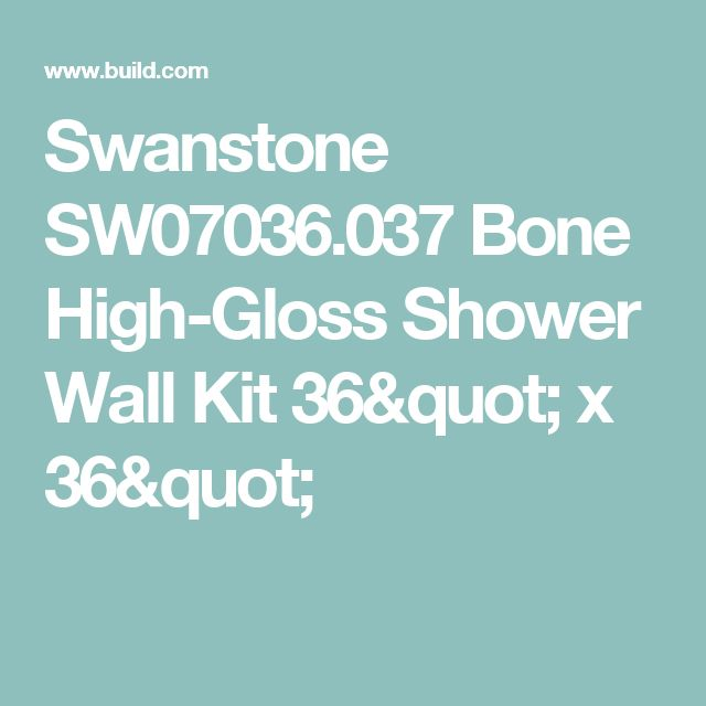 "Swanstone SW07036.037 Bone High-Gloss Shower Wall Kit 36"" x 36"""