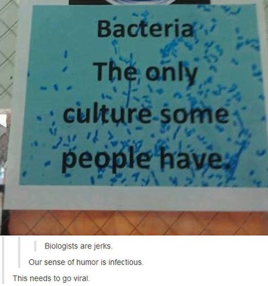 SPREAD IT to everyone!!! <<see I can make bacteria puns too! R u proud mummy?