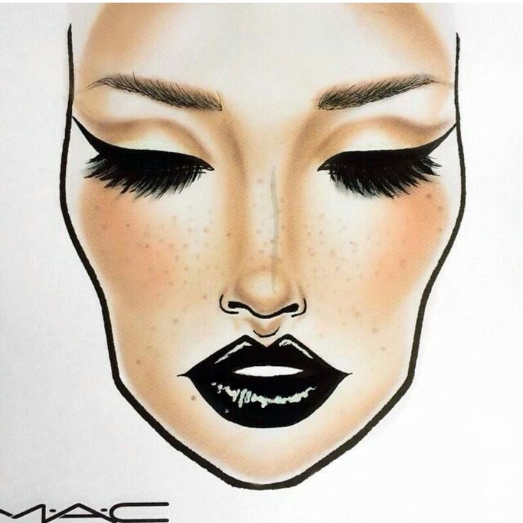 This Face Chart is gorgeous! More