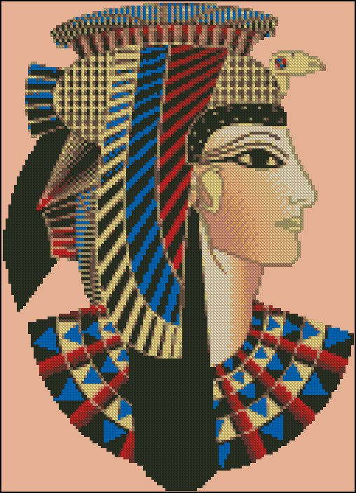 0 point de croix cleopatre - cross stitch cleopatra