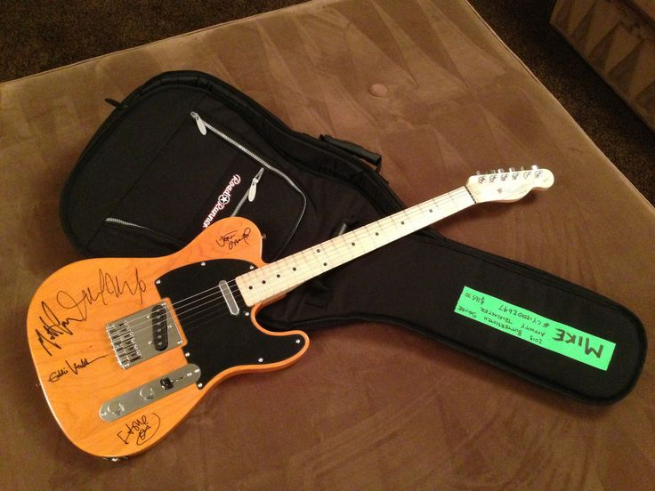 Pearl Jam Band Autographed Fender Squier Guitar | eBay