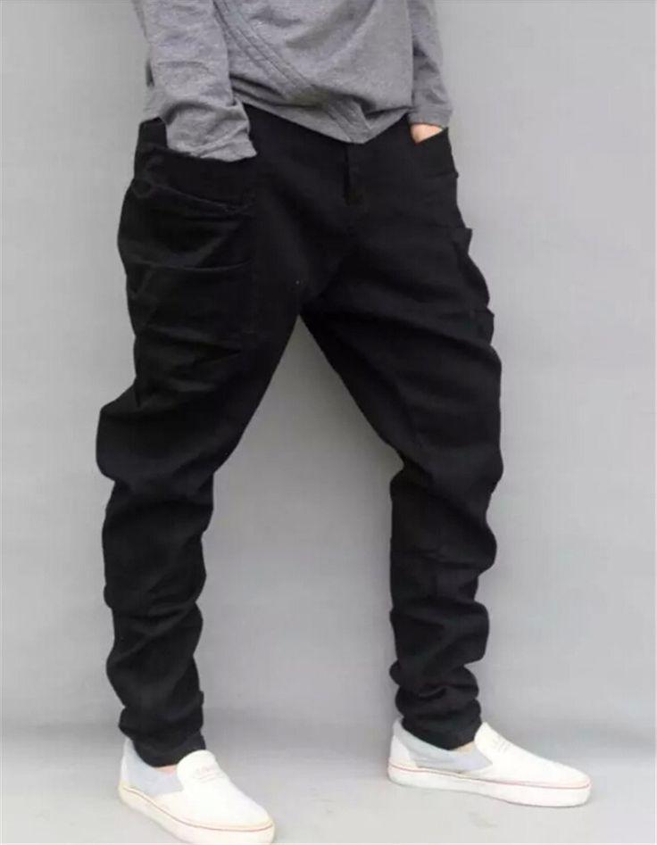 Retail Mens Loose Fit Harem Jeans Fashion Plus Size S-4XL Male 2014 Loose Jeans British Style Denim Harem Jeans Pants For Men