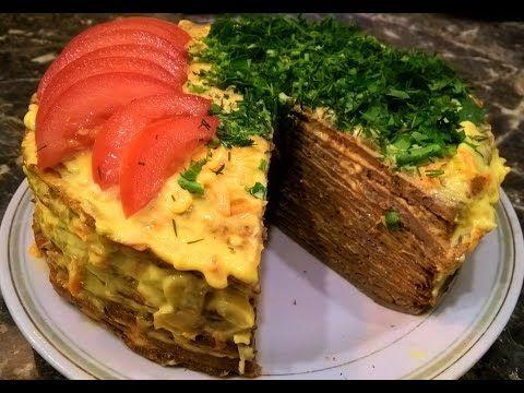 Печеночный торт из куриной печени (говяжьей, свиной) рецепт пошагово. - YouTube