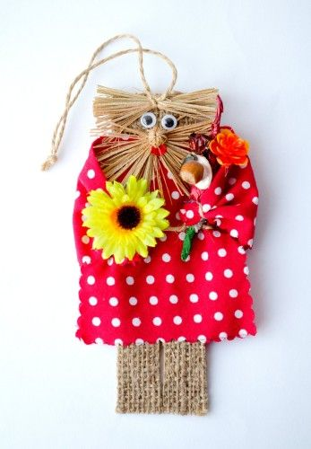 #dotted #red #domovoi http://nuwzz.com/product/dotted-red-domovoi-with-sunflower-handmade-magnet/