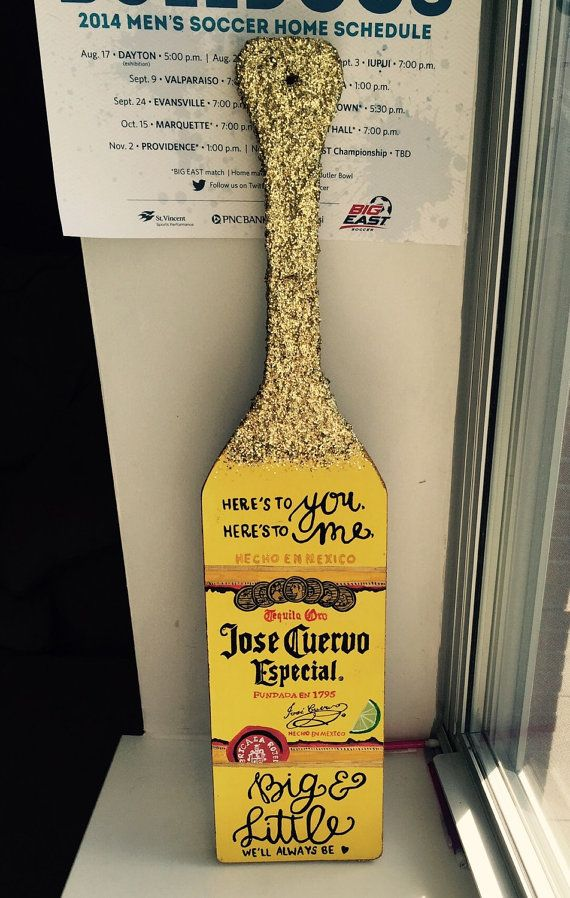 Jose Cuervo Inspired Paddle by ThePatternedPaddle on Etsy