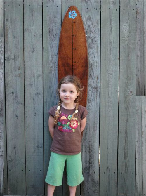A unique growth chart is a great addition to a playroom #playroom