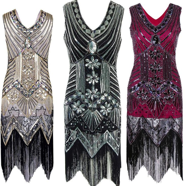 Great Gatsby Beading Bling Dress Black Party Lady Dress For Women Femme