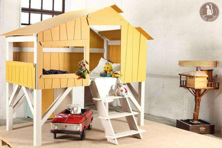Łóżko pietrowe domek NANU w Chat Perche na DaWanda.com