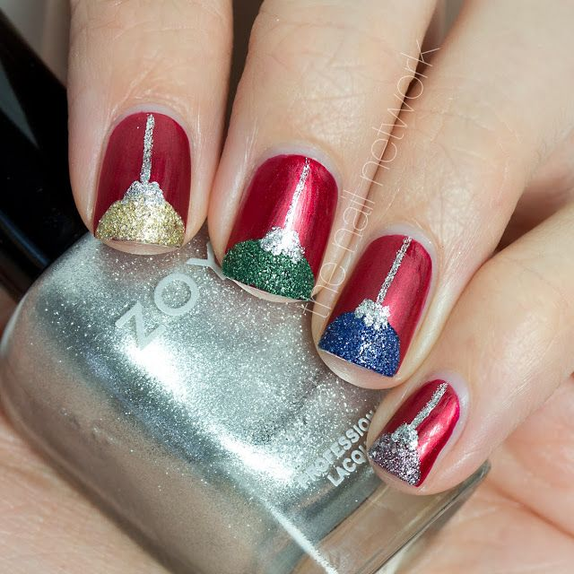 christmas ornament nail art - photo #3