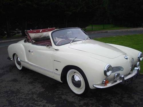 1960 VW Karmann Ghia Convertible. White against a White Wall tire! Oh Man! What's hot......This car!