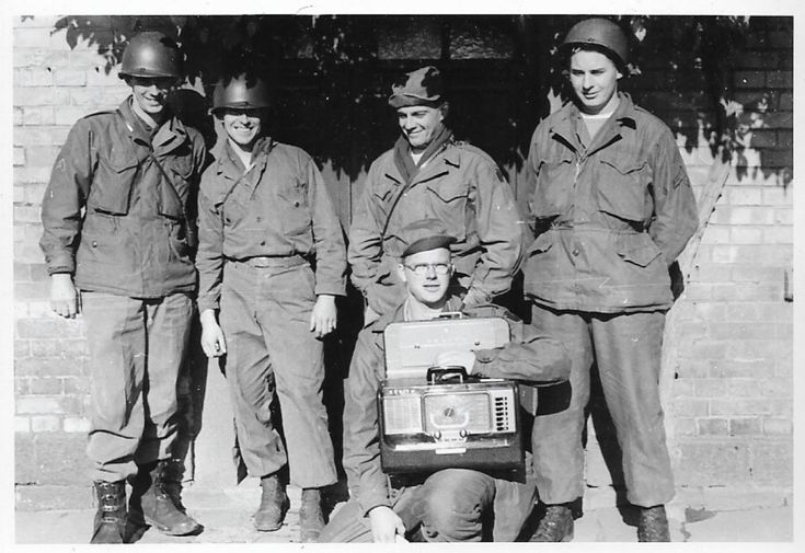 "This is a Korean War Photo  This Korean War Photo States: "" Russel, Rector(?), Abbott, Whitehouse &Danken(?) near Bellheim   (Belheim Germany)  The Photo is dated October 1952  Page 1 of 2"