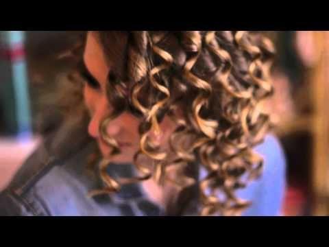 Krullend kapsel jaren 80 voor halflang tot lang haar - YouTube