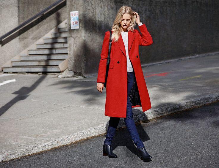 #red#coat#elegant