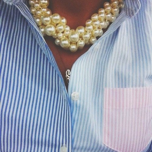Pearls and stripes. True Southern prep