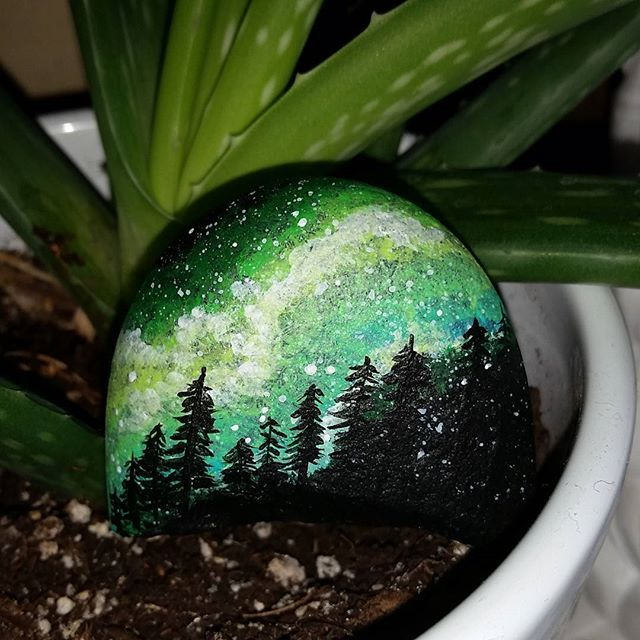 I love the idea of using rocks as 'canvases'