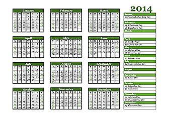 Calendar Template Pinterest