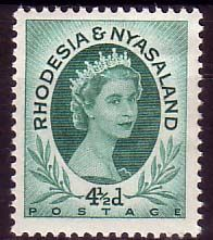 Postage Stamps Rhodesia and Nyasaland 1954 Queen Elizabeth II SG 5 Fine Used SG 4 Scott 145 For Sale Take A LOOK