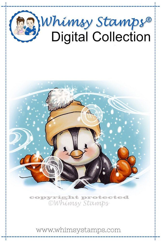 Penguin Thinking of You - Digital Stamp