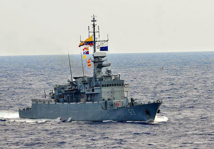 """""""Antioquia""""  (FM-53) third of the Almirante Padilla class  corvettes  of   Armada Nacional de la República de Colombia  2014"""