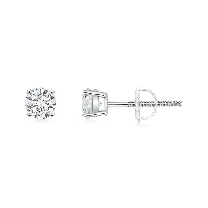 Angara Contemporary Diamond Studded Celtic Knot Stud Earrings 1PGeRtzMY