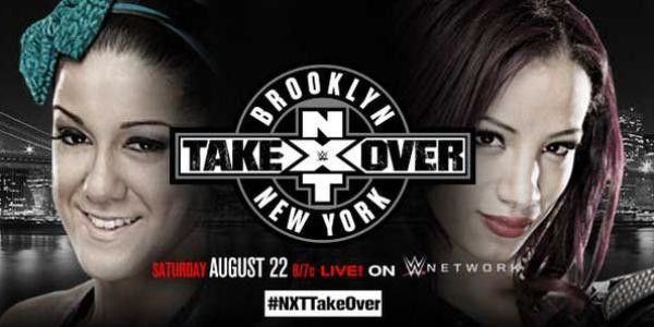 Bayley vs Sasha Banks for the NXT Women's Championship at NXT Takeover Brooklyn