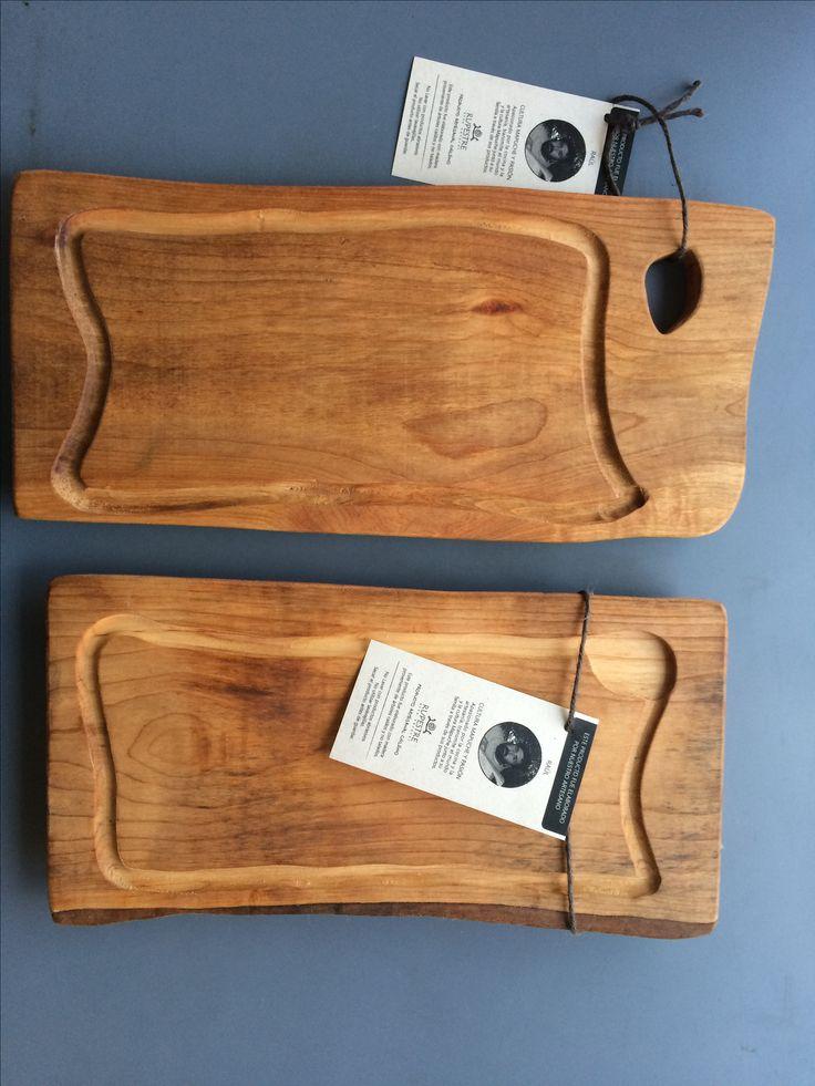 Tablas para cortar rústicas de 40 cm.