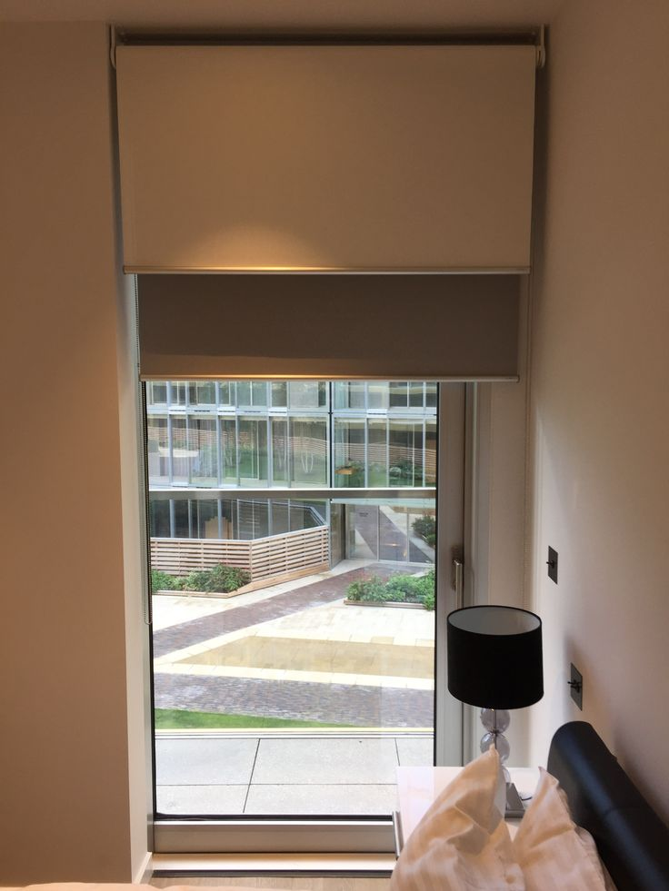 Double/dual Roller Blinds With Sunscreen Roller Blind In Front Of Blackout  Blind | Bedroom Blind | Blinds For Glass Door | Made To Measure | Made In  UK ...