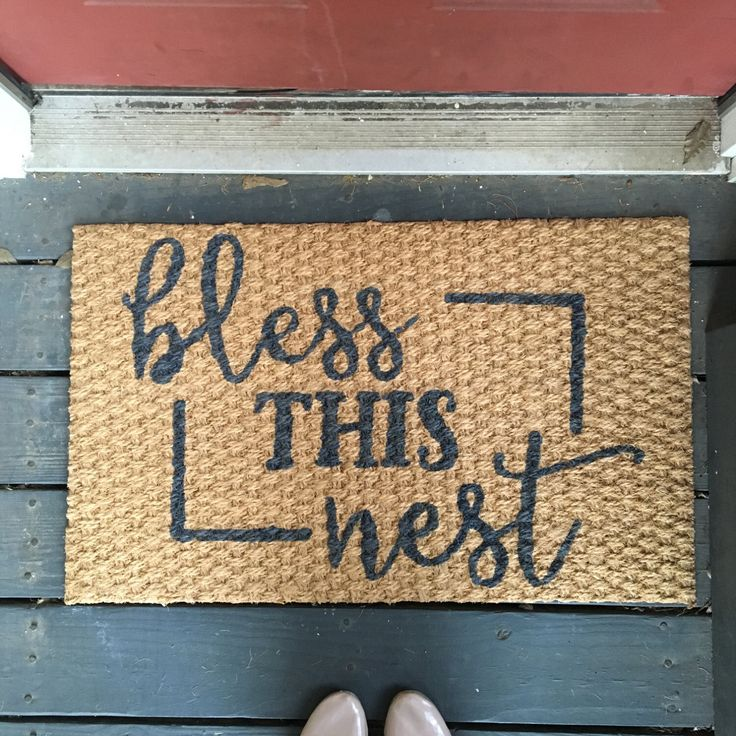 Bless this Nest Welcome Mat by TheHouseOnBrown on Etsy https://www.etsy.com/listing/262882857/bless-this-nest-welcome-mat