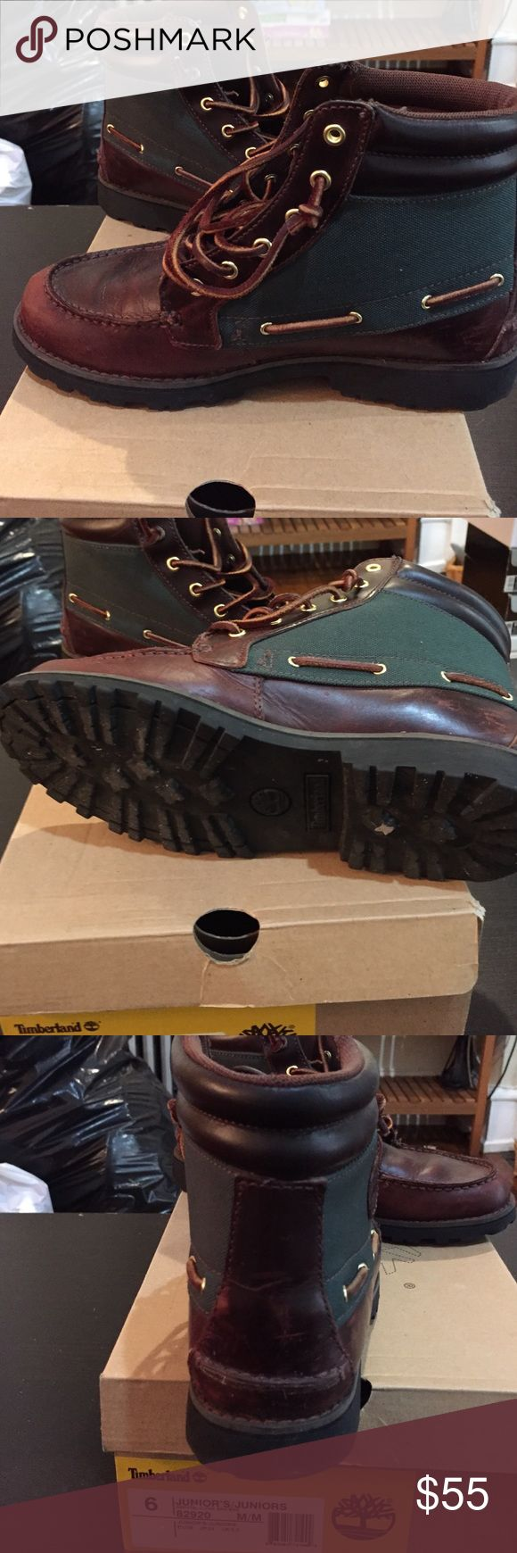 Timberland boots size 6 juniors Timberland boots size 6.  In good condition Timberland Shoes Combat & Moto Boots
