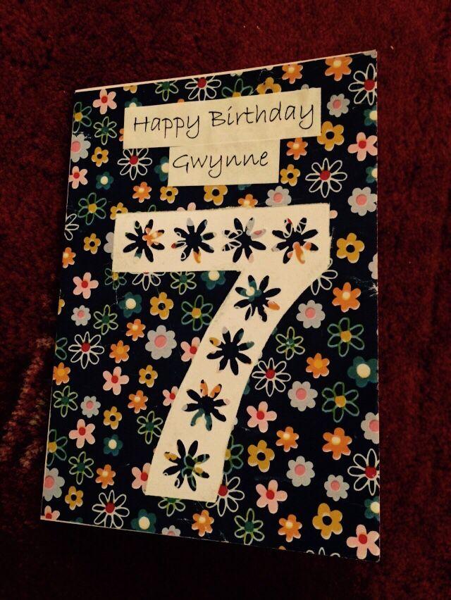 Handmade birthday card for my friends daughter Gwynne (2015)