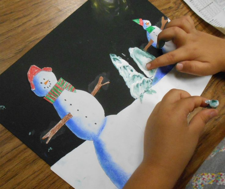 For this 2-day project, 3rd Graders started by observing the snowmen in the book, Snowmen in the Night , noticing how the light shining o...