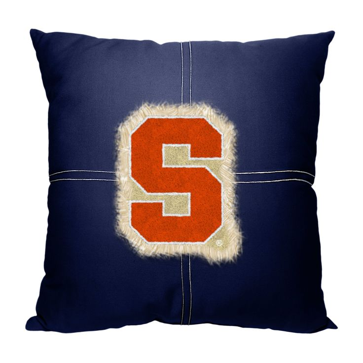 """Syracuse College 18""""""""x18"""""""" Letterman Pillow"""