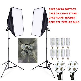 8pcs 24w LED E27 Bulb Photo stuido Soft Box set video lighting kit flash softbox reflector material 2ps softbox 2ps light stand (32721102991)  SEE MORE  #SuperDeals