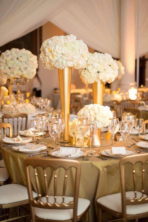 Gold Centerpiece Ideas : Best wedding receptions images on pinterest flower