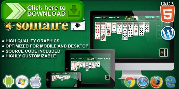[ThemeForest]Free nulled download Spider Solitaire - HTML5 Solitaire Game from http://zippyfile.download/f.php?id=54533 Tags: ecommerce, ace, card, card game, cards, clubs, diamonds, hearts, html5 solitaire, logic, puzzle, relax, solitaire, solitaire game, spider, table game